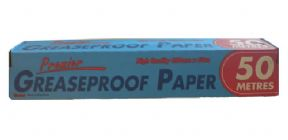 greaseproof paper 50 metres x 450mm for domestic and catering use